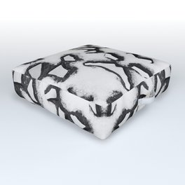 Ironwork Snowflake Outdoor Floor Cushion
