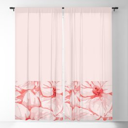 coral flower Blackout Curtain