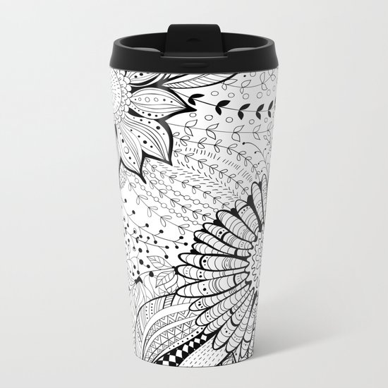 Floral garden Metal Travel Mug