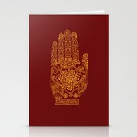 hamsa Stationery Cards featuring Hamsa by Stranger Designs