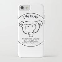 portlandia iPhone & iPod Cases featuring 100th Monkey Studio Portlandia's Original Open Studio by Beth Ann Short