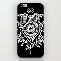 all seeing eye iPhone & iPod Skins featuring All Seeing Eye by girlxboy