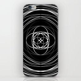 Black White Swirl iPhone Skin