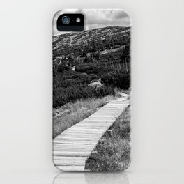 Black and White Tundra iPhone Case