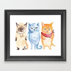 Jack, Jessup and Jill Framed Art Print