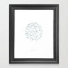 32/52: Zephaniah 3:17a  Framed Art Print