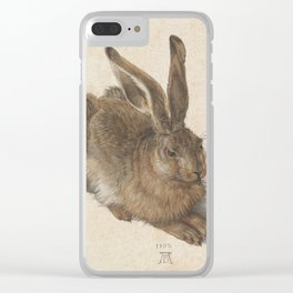 Hare by Albrecht Dürer Clear iPhone Case