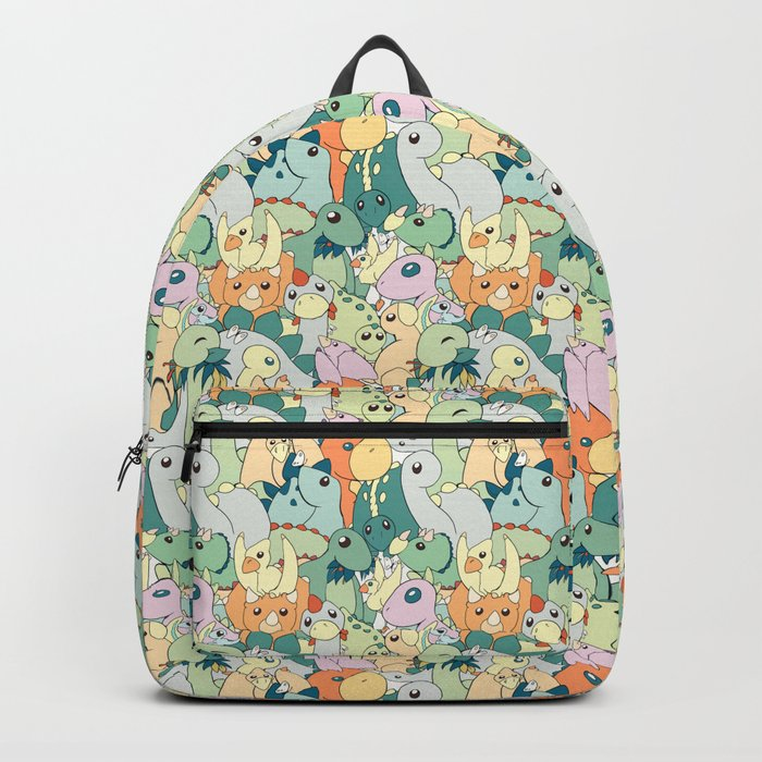 Cute Dino Pattern Backpack