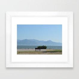 Sit, look at the Sea Framed Art Print