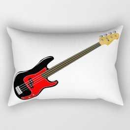 Fretless Bass Guitar Rectangular Pillow