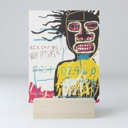 Digitally enhanced Basquiat canvas. Mini Art Print