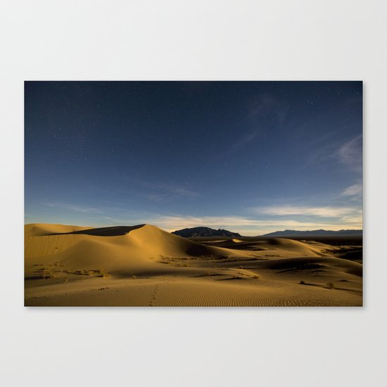 Sand Dunes & Night Sky Canvas Print
