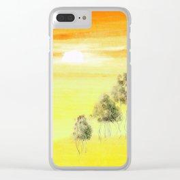Sunburn Clear iPhone Case
