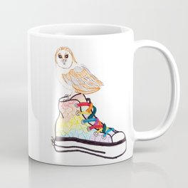 Owl on sneaker Coffee Mug