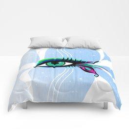 Rainbow Peacock Feather Eyelashes Eye Comforters
