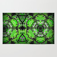 emerald Area & Throw Rugs featuring Emerald by EBC art