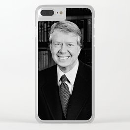 President Jimmy Carter Clear iPhone Case