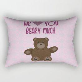 We Beary Love Rectangular Pillow