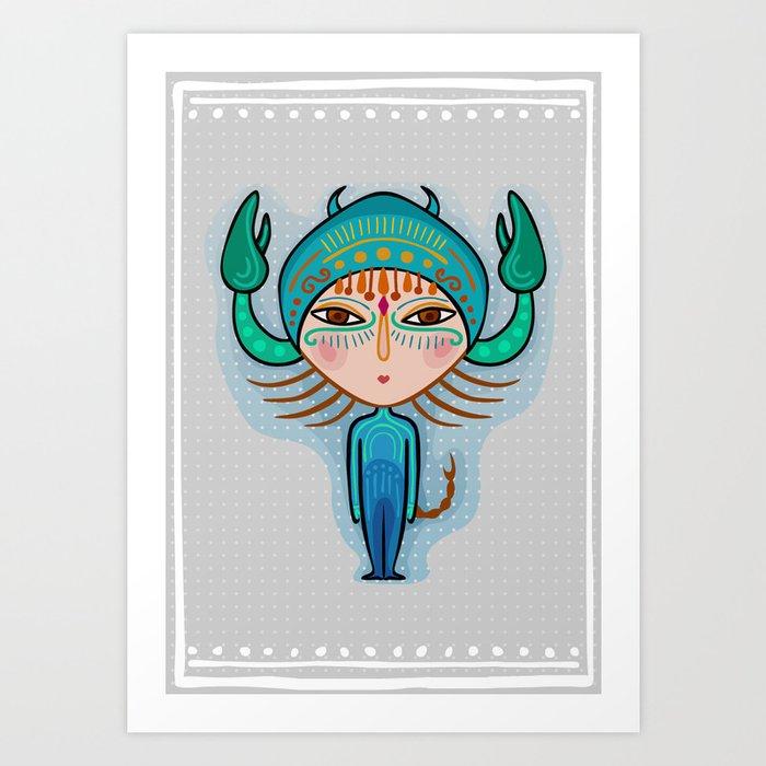 scorpio zodiac sign Art Print