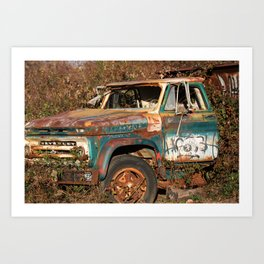 The old truck at the dovetail Art Print