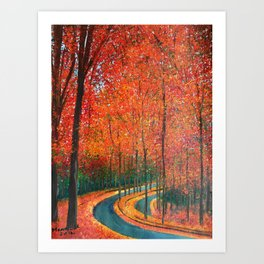 Beautiful colors of Autumn Art Print