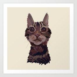 Bonnie The Cat Art Print