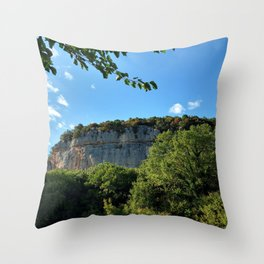 rock cliff at lim channel fjord istria croatia europe Throw Pillow