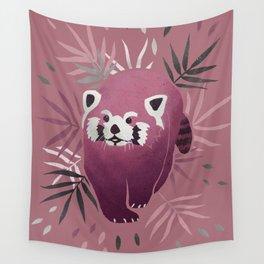 Red panda // ailurus fulgens // colourful colorful artwork illustration // purple plum palette // Danni Cockerill Cockerillart Wall Tapestry
