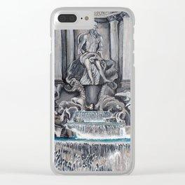 Fontana di Trevi Clear iPhone Case