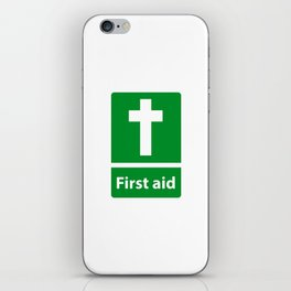 First Aid Cross - Christian Sign Illustration iPhone Skin
