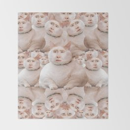 cage cat collage Throw Blanket