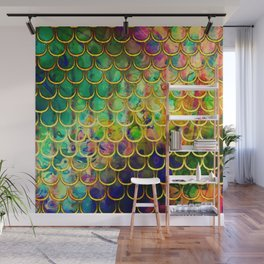 Scales Edged in Gold Wall Mural
