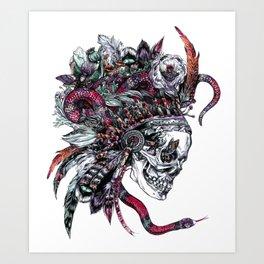 Death God Itzamna Art Print