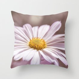 Single Daisy Throw Pillow
