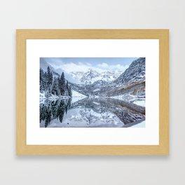 The Snowy Bells - Maroon Bells Aspen Colorado Framed Art Print