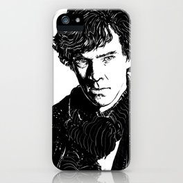 Sherlock B&W iPhone Case