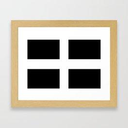 Saint Piran's Flag of Cornwall UK Framed Art Print