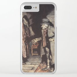 Arthur Rackham - Dickens' Christmas Carol (1915): Scrooge and His Shadow Clear iPhone Case