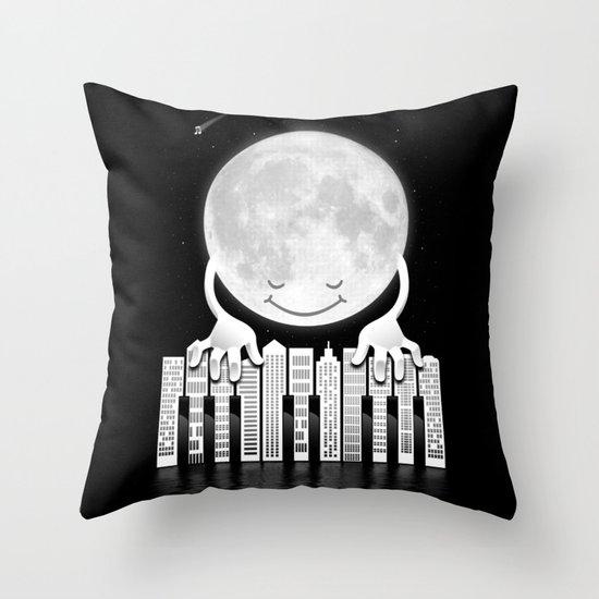 City Tunes Throw Pillow