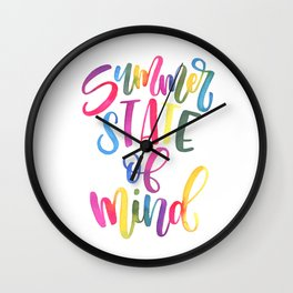 Summer State Of Mind Wall Clock