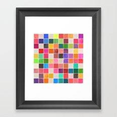 colorquilt 4 Framed Art Print