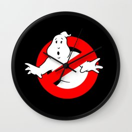 Ghostbusters black Wall Clock
