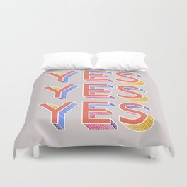 YES - typography Duvet Cover
