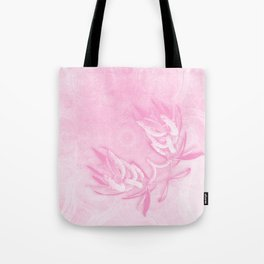 Wattle and kaleidoscope in pink Tote Bag