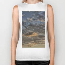 CLOUDS AT THE SUNSET Biker Tank