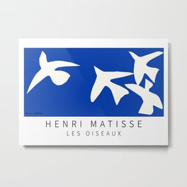 Henri Matisse - Les Oiseaux (The Birds) 1947 Artwork Reproduction Metal Print
