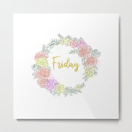 Friday fresh collection golden Metal Print
