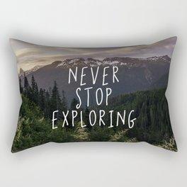 Never Stop Exploring - Nature Photography Rectangular Pillow