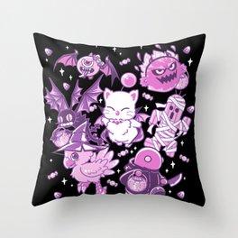 Final Fantasy Moogle Chocobo Tonberry Cactuar Bomb BatEye Gimme Cat Trick or treat Throw Pillow