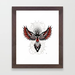 Divine Crow Woman Framed Art Print